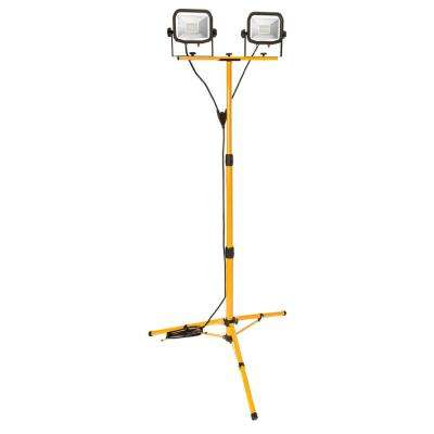 9 ft. 1800-Lumen LED Tripod Work Light  sc 1 st  The Home Depot & MasterPlug - Clamp On Hand Helds u0026 Stand-Up - Work Lights - The ... azcodes.com