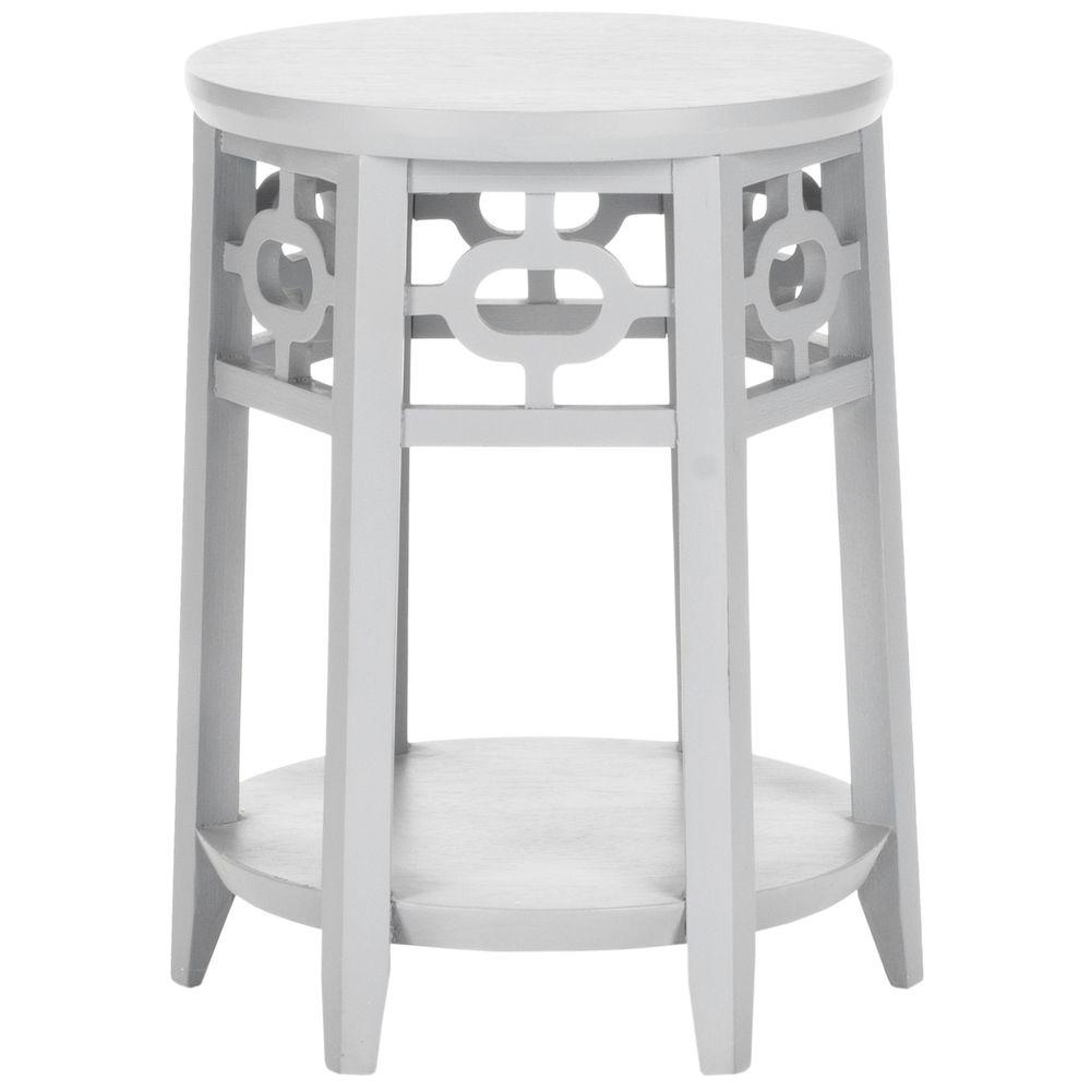 Adela Pearl Blue Gray Side Table