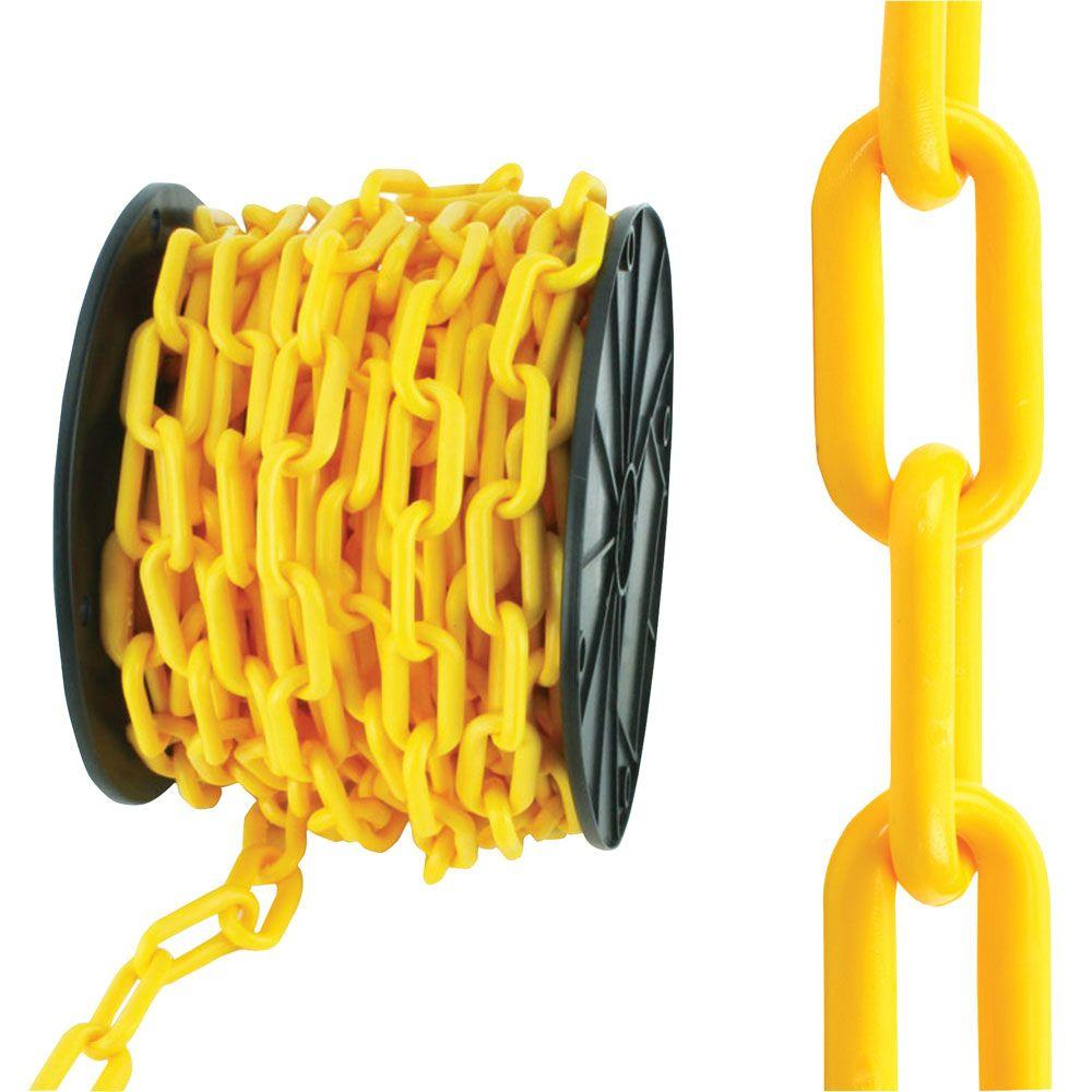 Everbilt 8 X 50 Ft Yellow Plastic Chain 810040 The