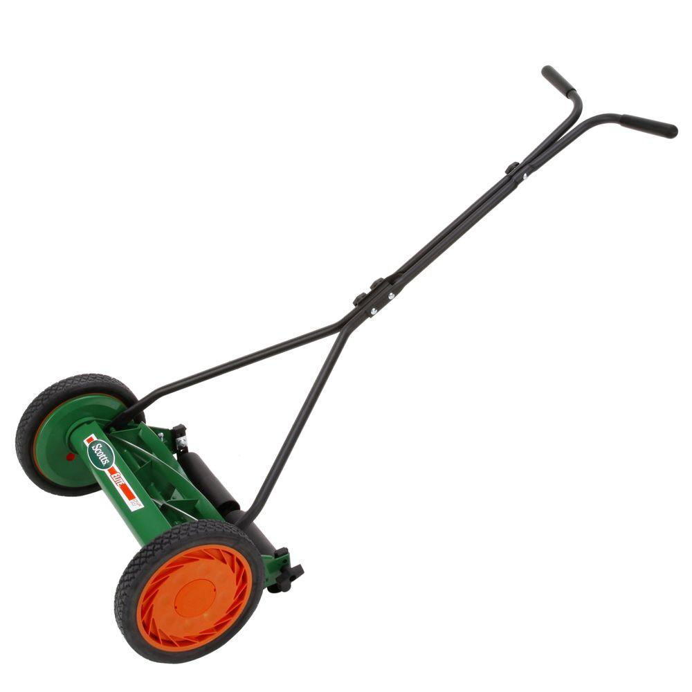 Scotts scott 39 s 16 in manual walk behind push reel lawn for Depot moers