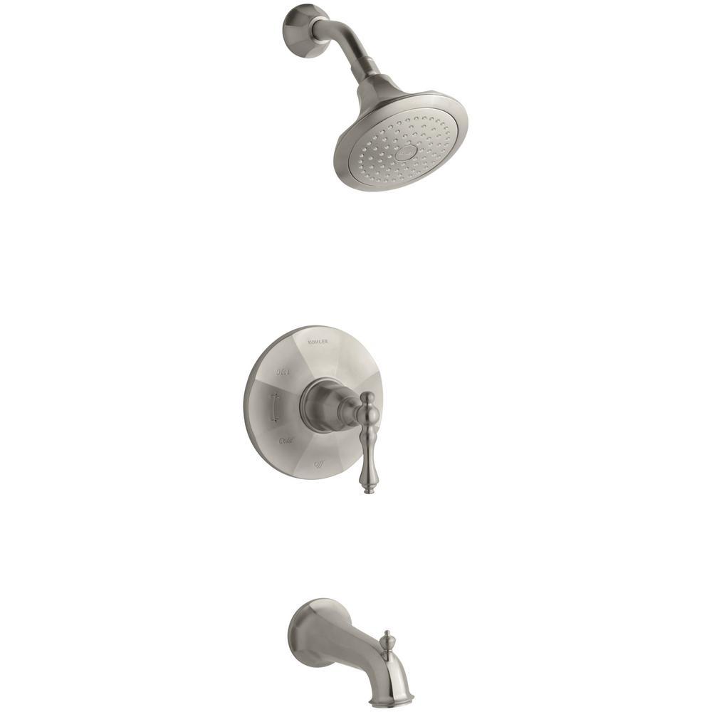 KOHLER Kelston Single-Handle 1-Spray 2.5 GPM Tub and Shower Faucet ...