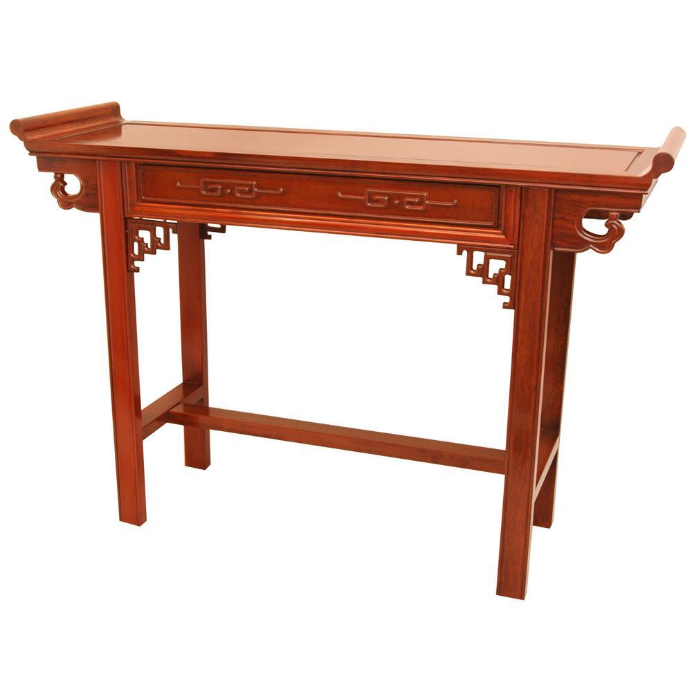 Qing Orange End Table