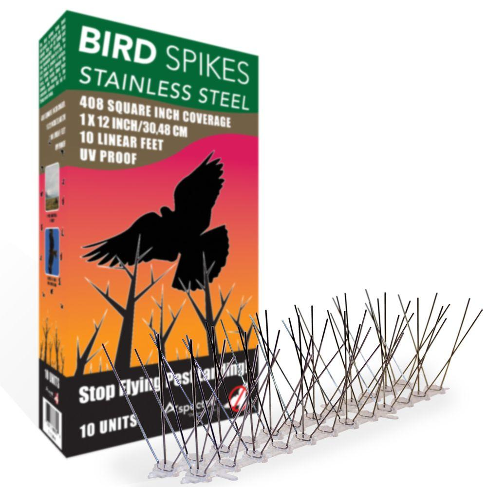 Aspectek 10 ft. Stainless Steel Bird Spikes