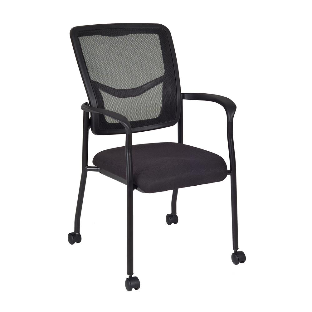 Regency Kiera Black Side Chair With Casters 5175cbk The