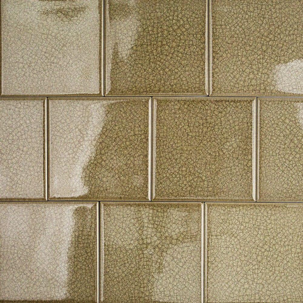 Splashback Tile Roman Selection Iced Gold Gl Mosaic 4 In X
