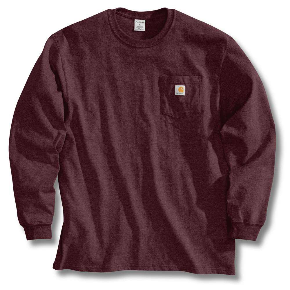 701f5a46181 Carhartt Men s Regular Medium Port Cotton Long-Sleeve T-Shirt-K126 ...