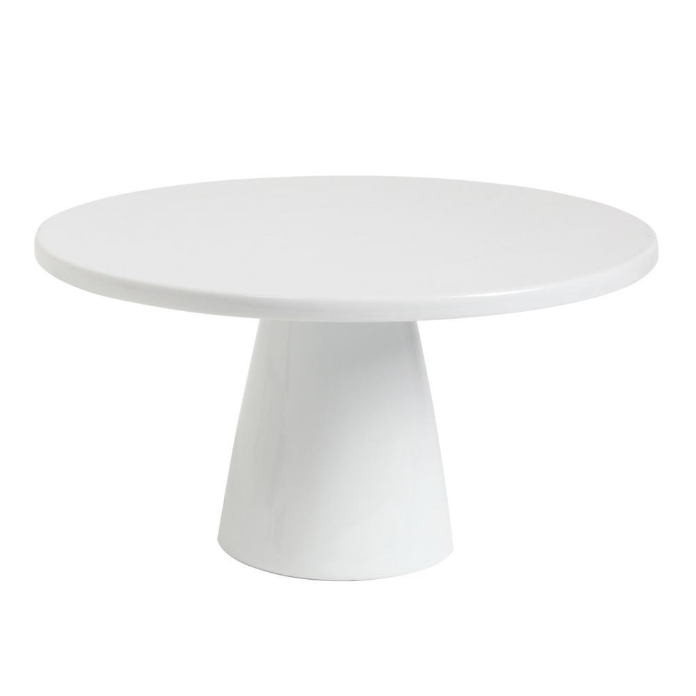 GIBSON elite Gracious Dining 1-Tier White Cake Stand 985100498M