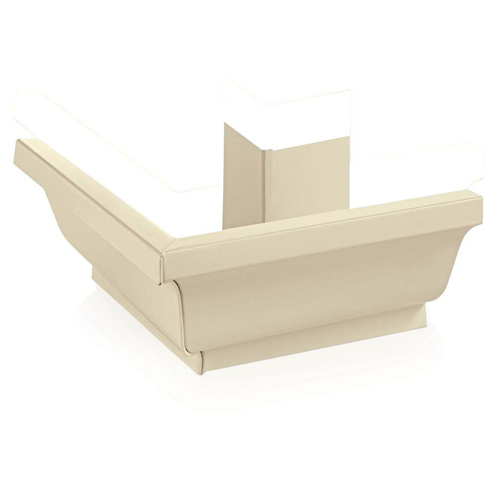Amerimax Home Products PRO 5 in. Almond Aluminum K-Style Outside Box Miter