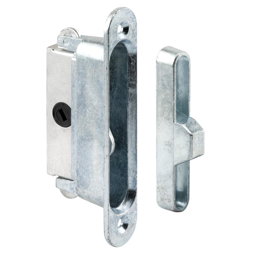 Deep Reach Sliding Door Lock and Keeper for Wood or Aluminum Door