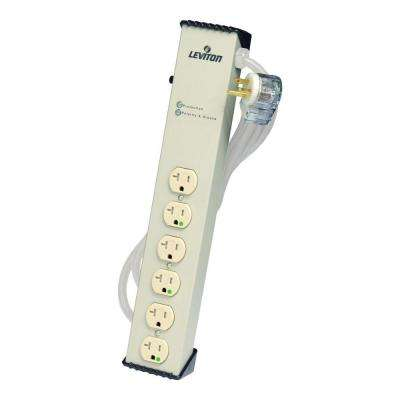 120-Volt 20 Amp 6 ft. 6-Outlet Surge Protected Tamper-Resistant Strip, Beige