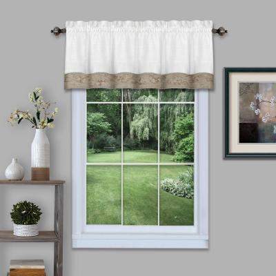 Oakwood 14 in. L Polyester/Linen Window Curtain Valance in Natural