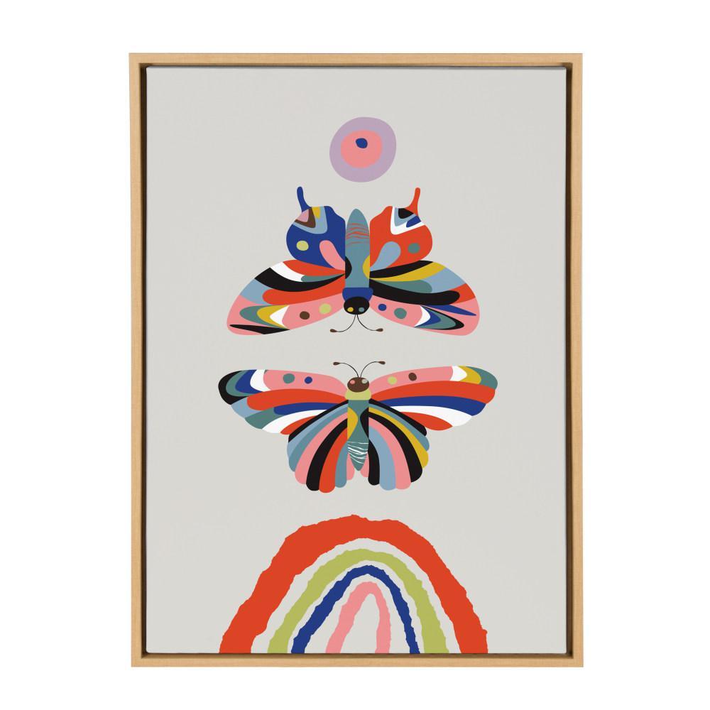 """Sylvie """"Butterflies"""" by Rachel Lee Framed Canvas Wall Art"""