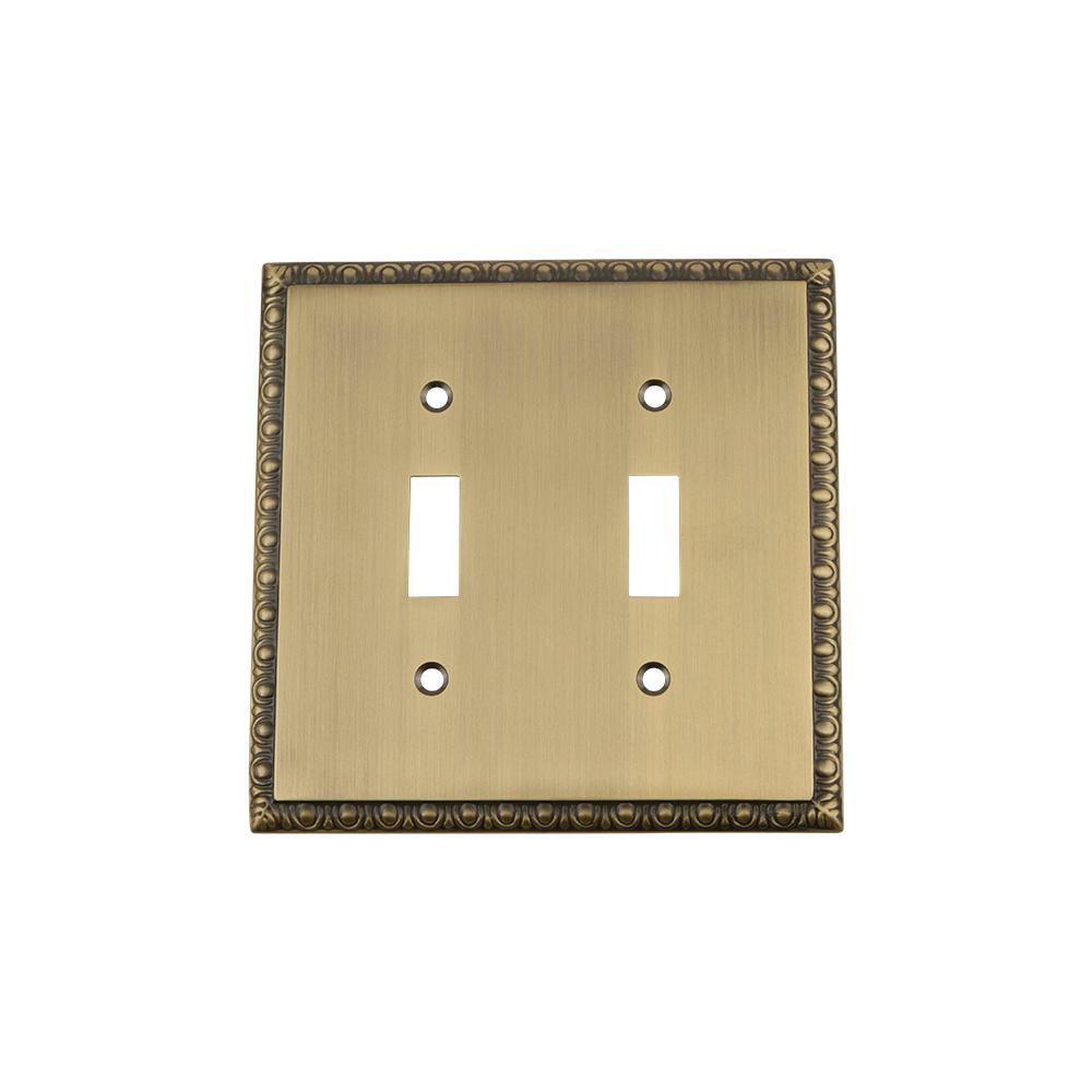 Hampton Bay Architectural Decorative Double Switch Plate, Antique ...