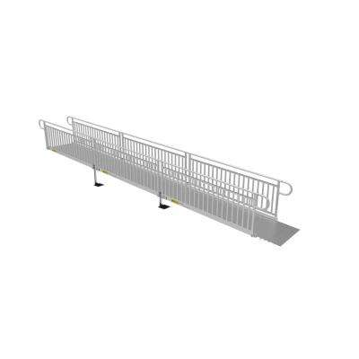 PATHWAY 3G 24 ft. Wheelchair Ramp Kit with Solid Surface Tread and Vertical Picket Handrails