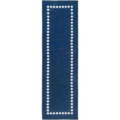 Abigail Navy 2 ft. 6 in. x 8 ft. Indoor Runner