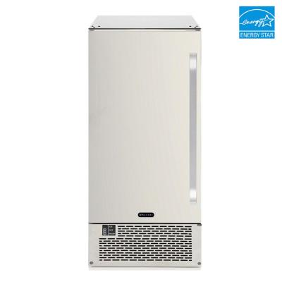Energy Star 50 lb. Built-In/Freestanding Ice Maker in Stainless Steel