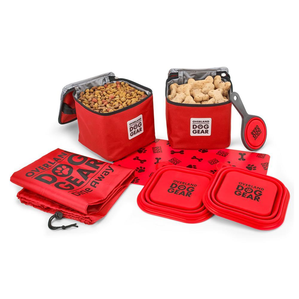 Dine Away Set (Medium/Large Dogs) (Red)