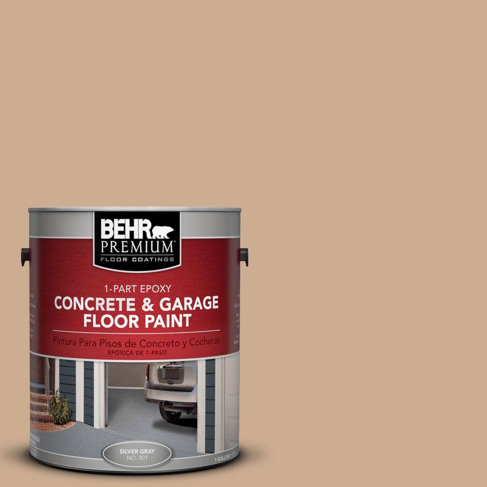 BEHR Premium 1-Gal. #PFC-23 Tan 1-Part Epoxy Concrete and Garage Floor Paint