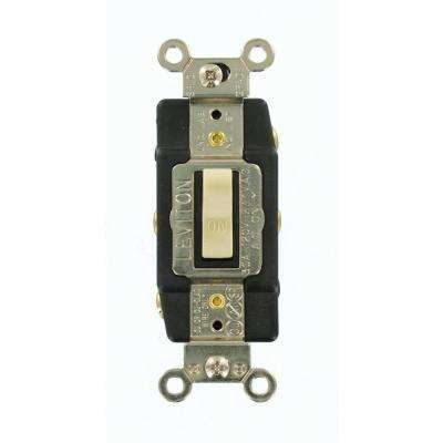 30 Amp Industrial Grade Heavy Duty Double-Pole Double-Throw Center-Off Maintained Contact Toggle Switch, White