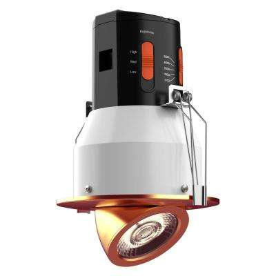 Premium Downlight 4in. Copper Integrated LED Recessed Gimbal Kit