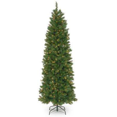 6-1/2 ft. Pennington Fir Hinged Pencil Tree with 250 Clear Lights
