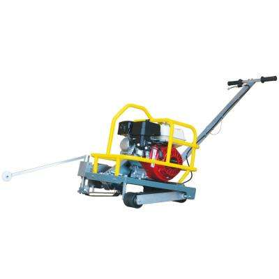 6 in. Early Entry Walk Behind Green Concrete Saw with 5.5 HP Honda Engine