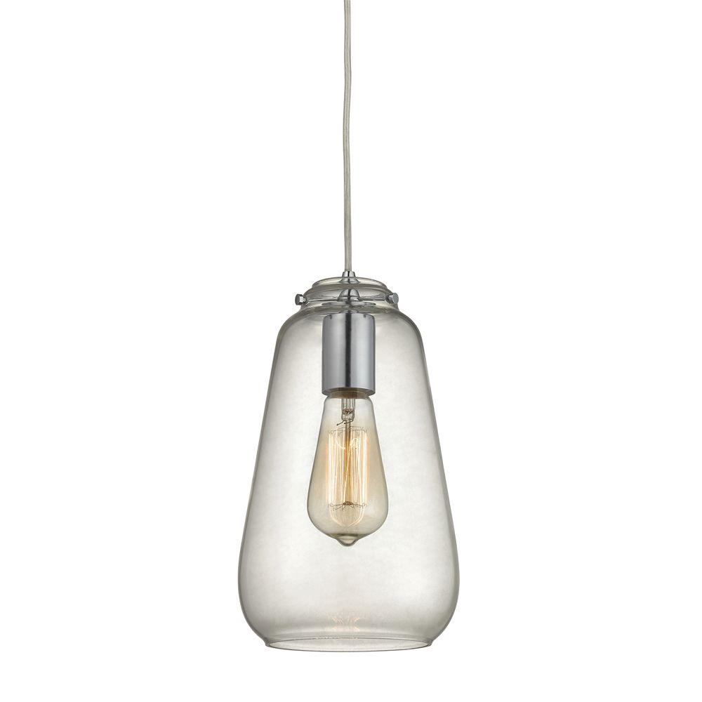 Home Decorators Collection 1-Light Polished Chrome Pendant ...