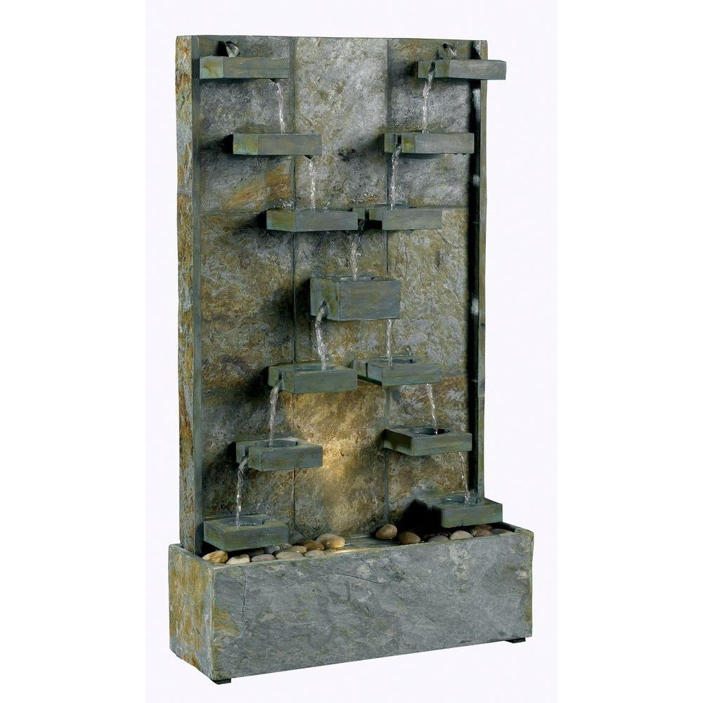 Bon Kenroy Home Watercross Indoor/Outdoor Fountain 50375SL   The Home Depot
