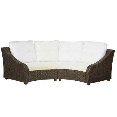 Torquay Custom Wicker Outdoor Sofa with Cushions ... - Outdoor Sofas - Outdoor Lounge Furniture - The Home Depot