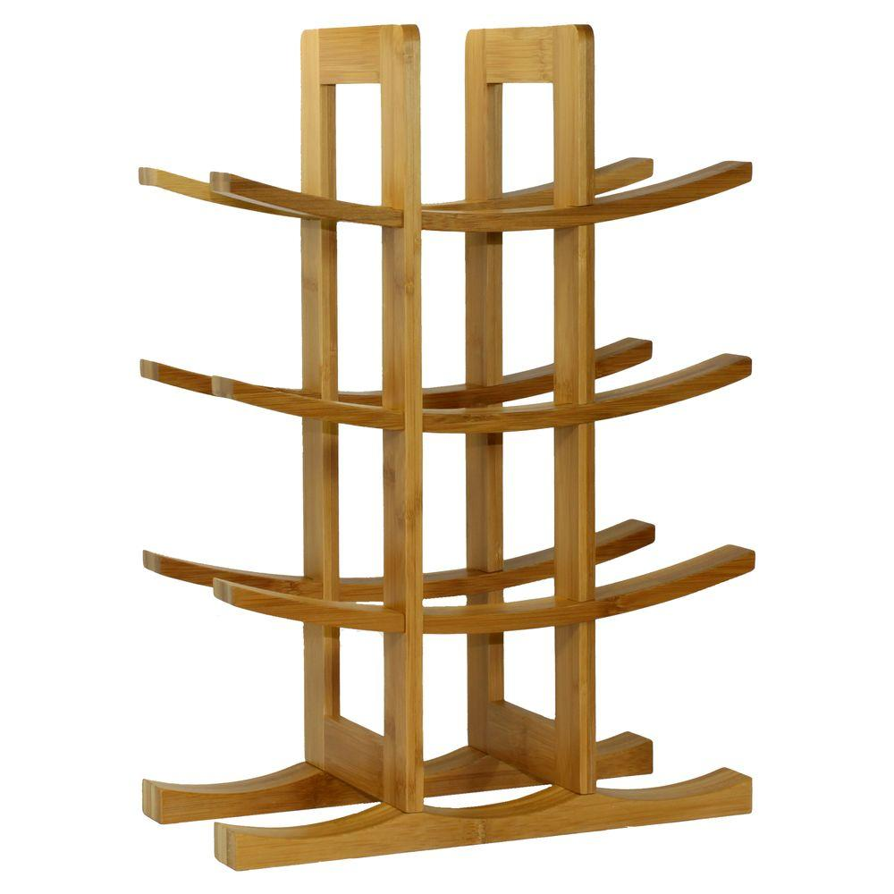 Oceanstar 12 Bottle Bamboo Countertop Wine Rack Wr1149 The Home Depot