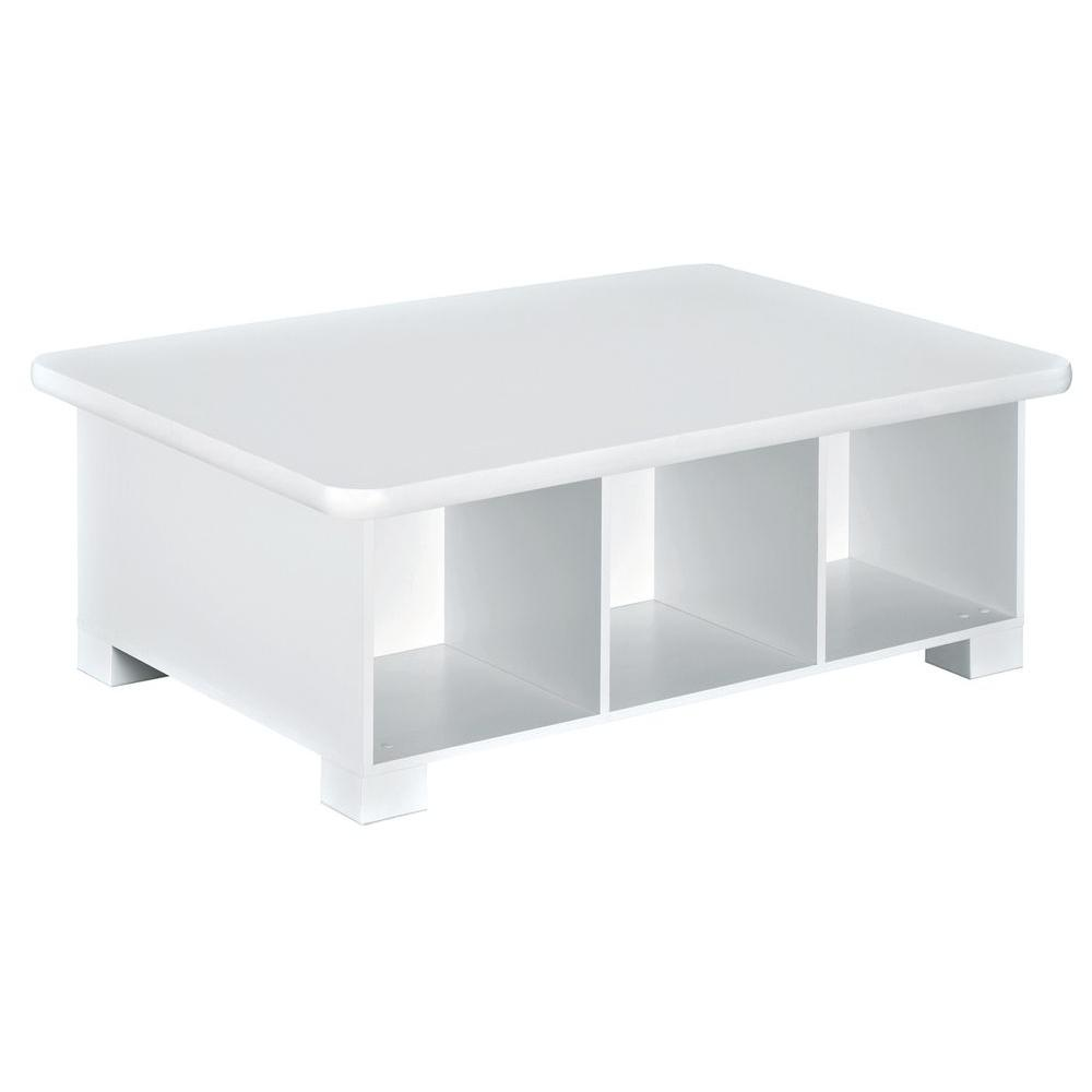 40 in. W x 15 in. H White 6-Cube Activity Table