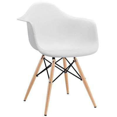 Pyramid White Dining Arm Chair