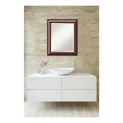 Cambridge Black Mahogany Wood 20 in. W x 24 in. H Single Traditional Bathroom Vanity Mirror