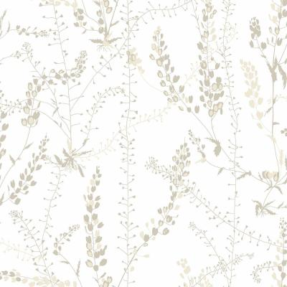 57.8 sq. ft. Bladranker Beige Botanical Wallpaper