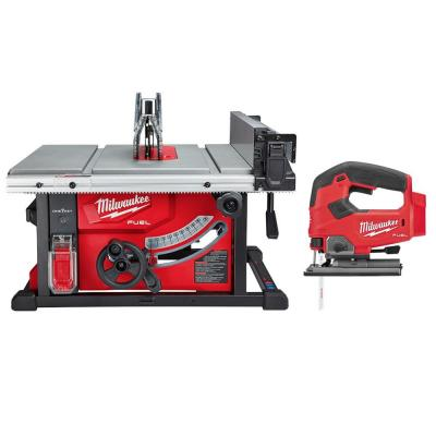 Milwaukee M18 FUEL ONE-KEY 18-Volt Lithium-Ion Brushless Cordless 8-1/4 in. Table Saw with Jig Saw (Tool-Only)