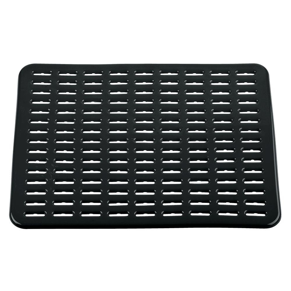 InterDesign Syncware Large Sink Mat In Black