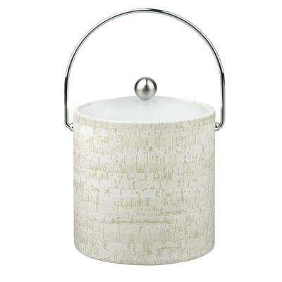 Stucco Cork 3 Qt. Ice Bucket with Bale Handle, Lucite Lid