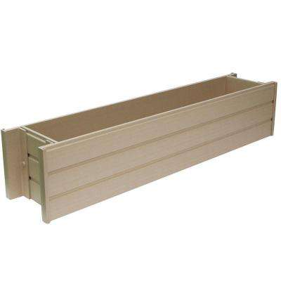 ecoChoice 36.4 in. x 7.5 in. Resin Window Box