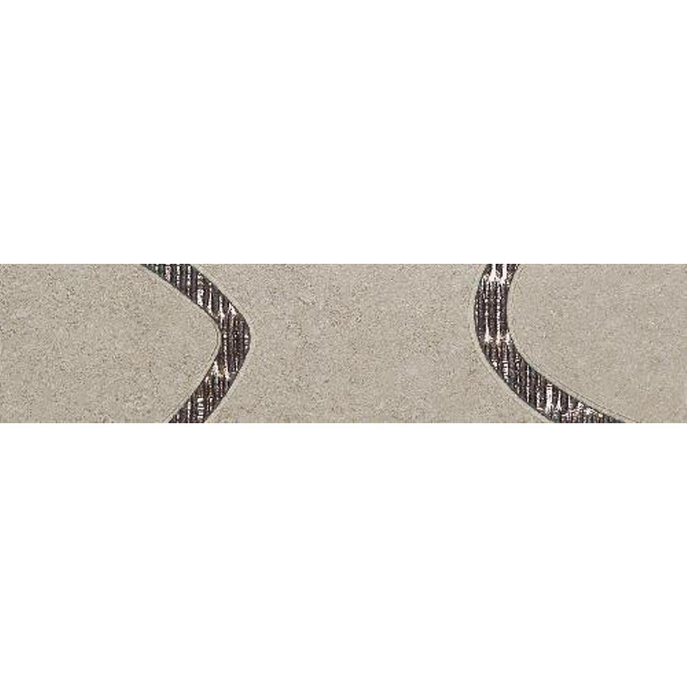 Daltile City View Skyline Gray 3 in. x 12 in. Porcelain Decorative Floor and Wall Tile