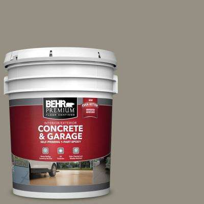 5 gal. #N320-5 Gray Squirrel Self-Priming 1-Part Epoxy Satin Interior/Exterior Concrete and Garage Floor Paint