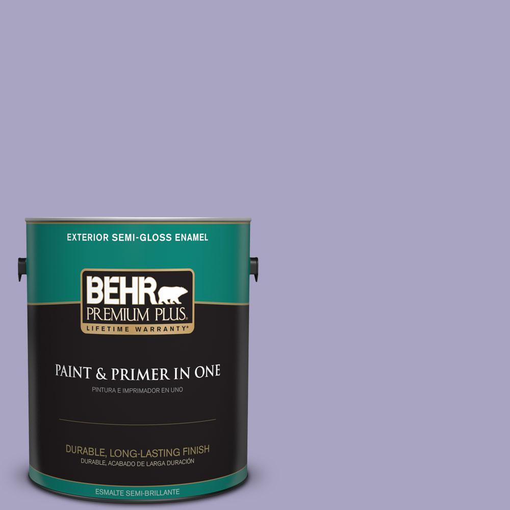 1-gal. #640D-4 Canyon Mist Semi-Gloss Enamel Exterior Paint