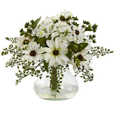 Mixed Daisy Arrangement with Vase