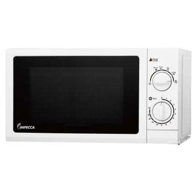 0.6 cu. ft. Countertop Microwave in White