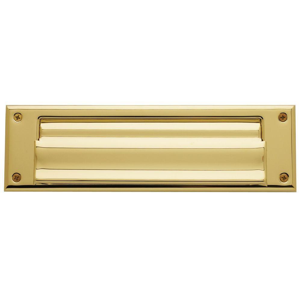 0017 Letter Box Plate Lifetime, Polished Brass