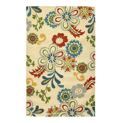 Tilly Ivory 9 ft. x 12 ft. Area Rug