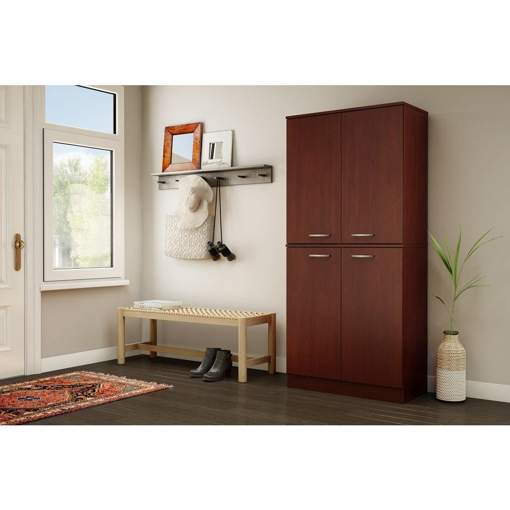 South Shore Axess Royal Cherry Storage Cabinet-10184