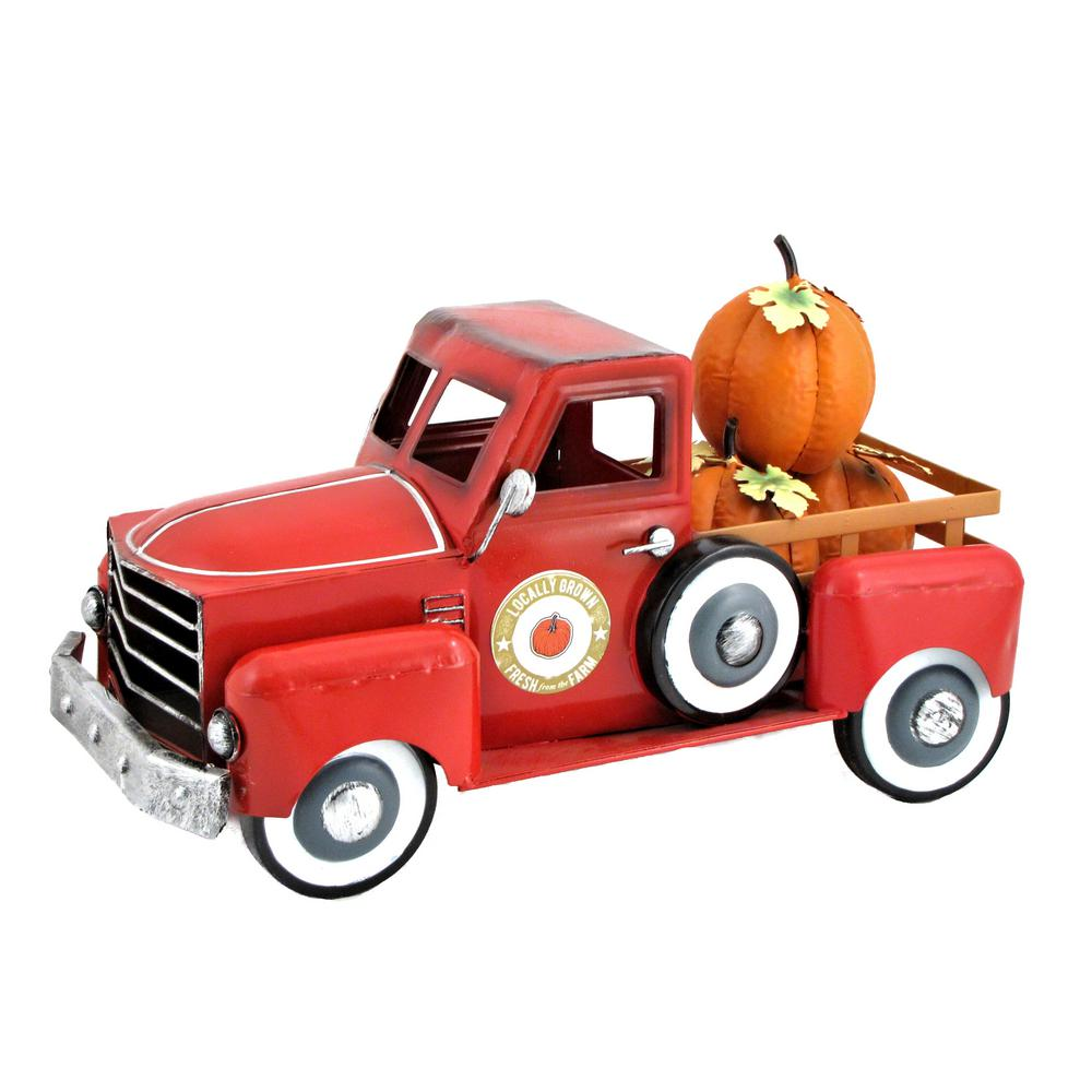 Zaer Ltd. International 9.25 in. Harvest Pumpkin Truck Decor