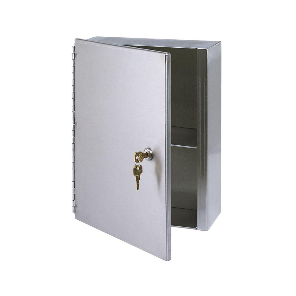 Stainless Solutions 10 1 2 In W X 13 5 H Frameless Steel Surface Mounted Bathroom Medicine Cabinet Med1 The Home Depot
