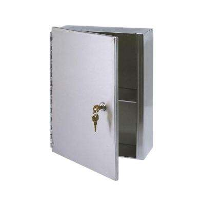 10-1/2 in. W x 13-1/5 in. H Frameless Stainless Steel Surface-Mounted Bathroom Medicine Cabinet