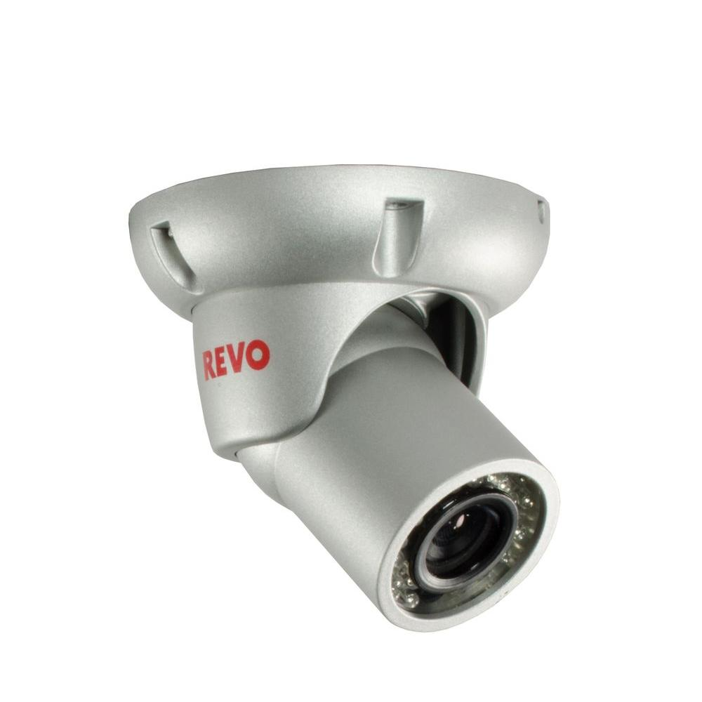 Revo 700TVL Indoor/Outdoor BNC Mini Turret Surveillance Camera ...